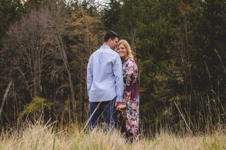 Hayley and Devin's engagement photos Oak Openings