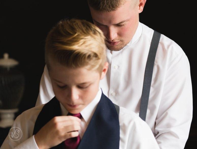 Joey and groomsman getting ready