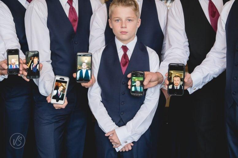 Groomsmen selfies