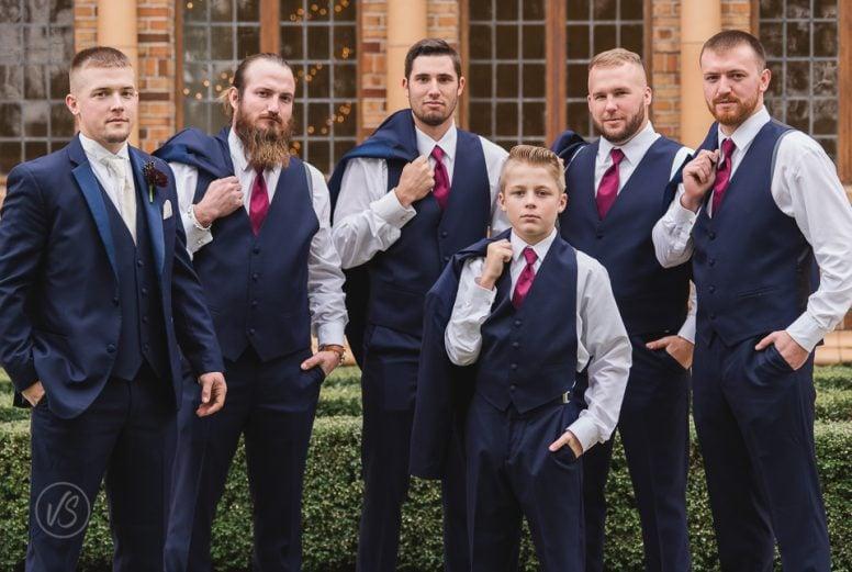 Groom and groomsmen Nazareth Hall