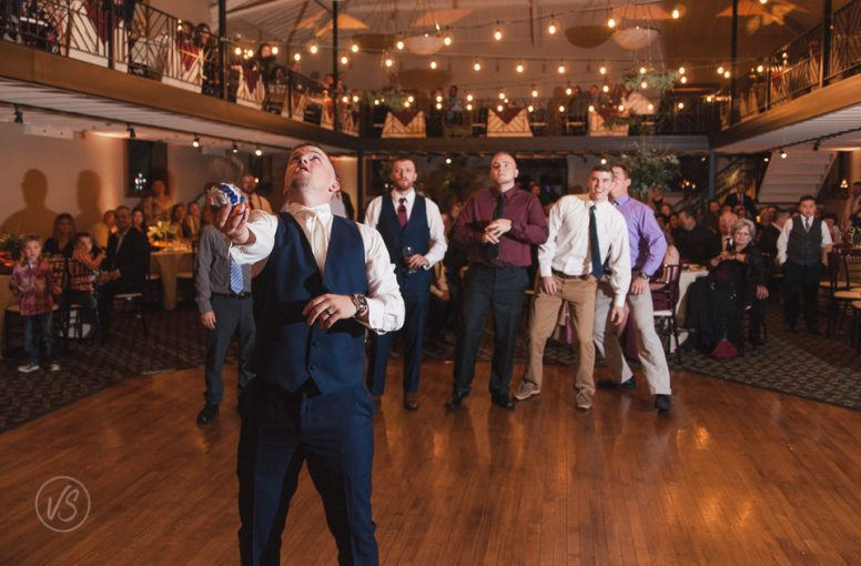 groom garter toss Nazareth Hall