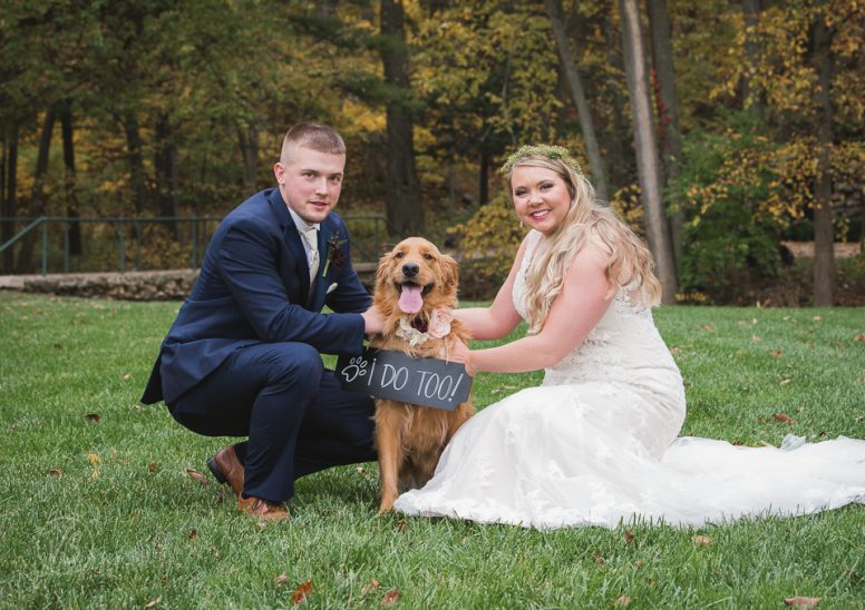 Joey and Taylor with Luna before wedding