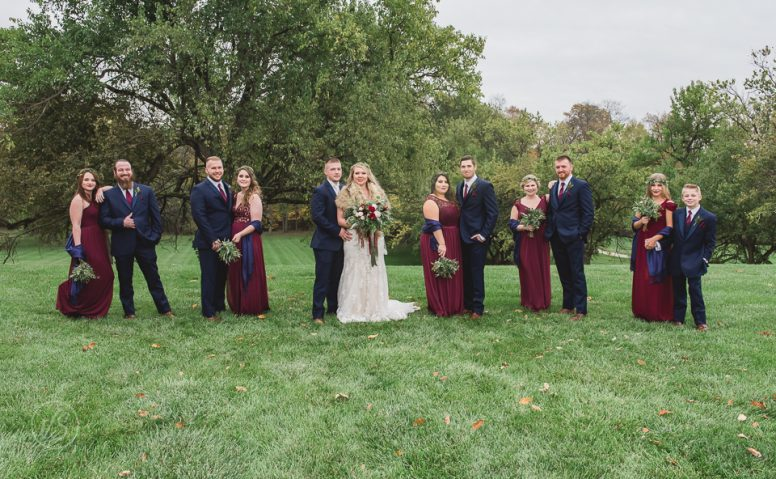 Joey and Taylor bridesmaids and groomsmen