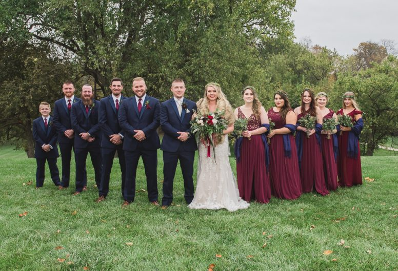 Joey and Taylor with wedding party