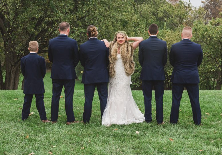 Taylor with the Groomsmen