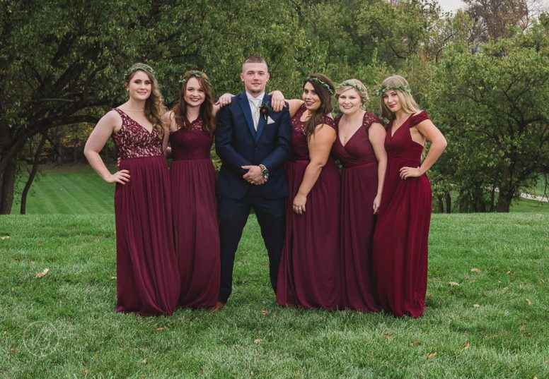 Joey with bridesmaids