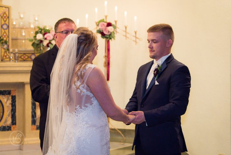 Joey and Taylor exchanging vows