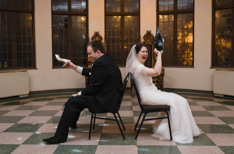 Marc and Amanda's wedding reception at Nazareth Hall